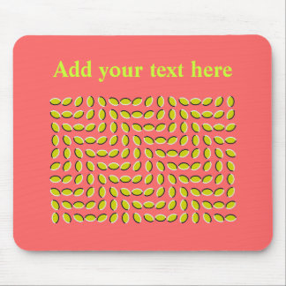ILLUSION-moving leaves Mouse Pad