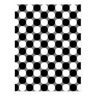 Illusion of optics postcard