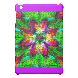Illusion of Stained Glass Mosaic Design iPad Mini Cover