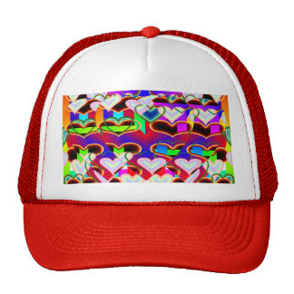 Illusion of the Hearts (Blend) Trucker Hats