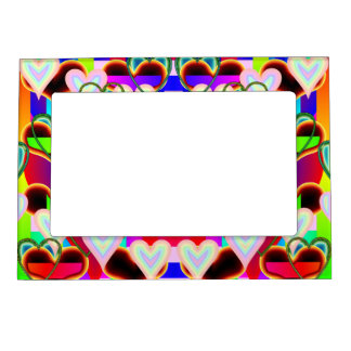 Illusion of the Hearts by Kenneth Yoncich Magnetic Picture Frame