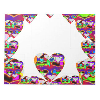 Illusion of the Hearts by Kenneth Yoncich Note Pad