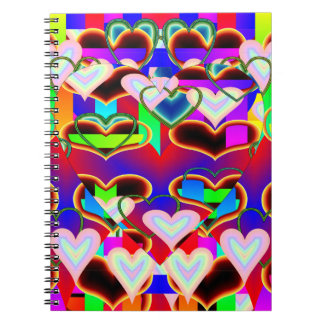 Illusion of the Hearts by Kenneth Yoncich Spiral Notebook