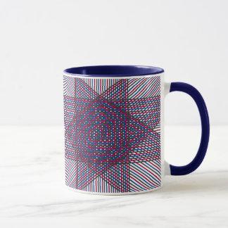 Illusion Star Ringer Mug