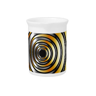 Illusion with metallic rings beverage pitcher