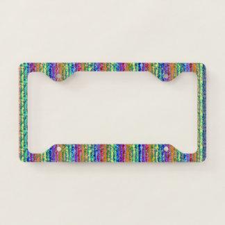 Illusional Lighter Rainbow License Plate Frame
