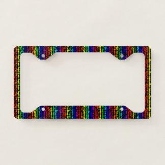 Illusional Rainbow License Plate Frame