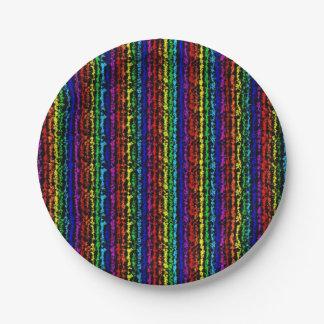 Illusional Rainbow Paper Plates