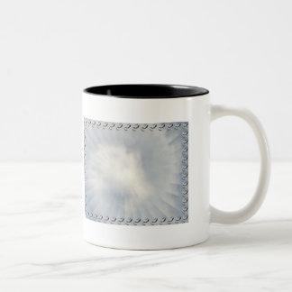 Illusionary Cloud with bats border Two-Tone Coffee Mug