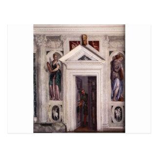 Illusory Door by Paolo Veronese Postcard