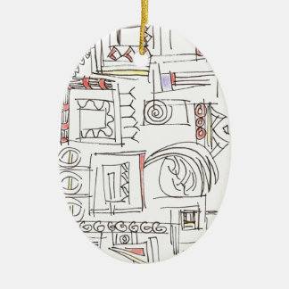 Illusory-Whimsical Abstract Art Ceramic Ornament