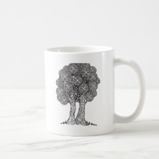illustarted tree coffee mug
