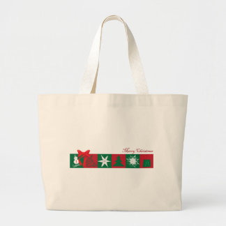 Illustartion de las Felices Navidad Bolsa Tela Grande