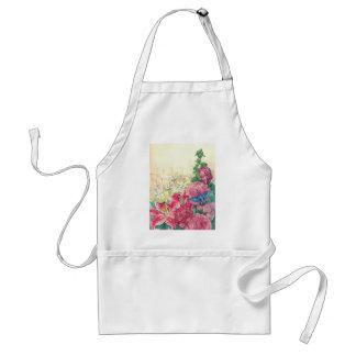 Illustrate florals & hummingbird apron custom