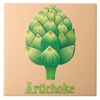 Illustrated Artichoke Decorative Kitchen Tile