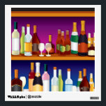 """Illustrated Bar Back Wall Sticker<br><div class=""""desc"""">Illustration of a bar back stocked with various spirits</div>"""