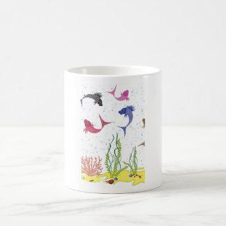 Illustrated Beta Fish Coffee Mug