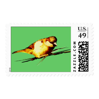 Illustrated Bird Postage Stamps