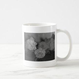Illustrated black & white roses custom template coffee mug
