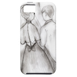 Illustrated Bride and Groom iPhone SE/5/5s Case