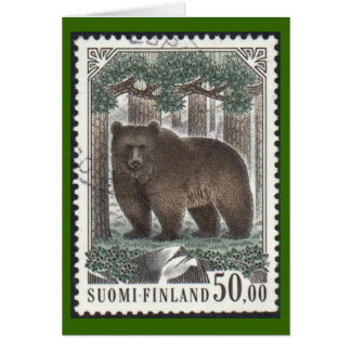 Illustrated Brown Bear Card