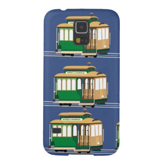 Illustrated Cable Car Pattern Galaxy S5 Case