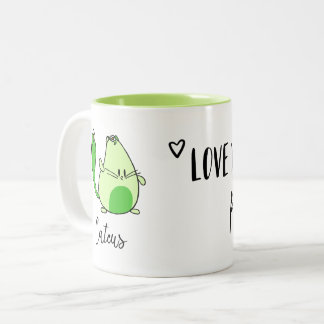 illustrated cactus and cat inspirational quote mug