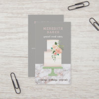 Illustrated Cake Designer Wedding Events Planner Business Card