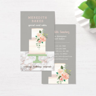 Cake designer business cards templates zazzle illustrated cake designer wedding events planner business card reheart Choice Image