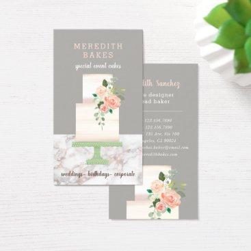 Wedding Themed Illustrated Cake Designer Wedding Events Planner Business Card
