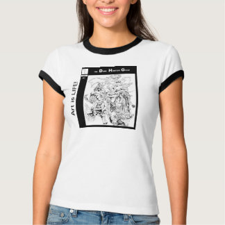 Illustrated Character White T-Shirts