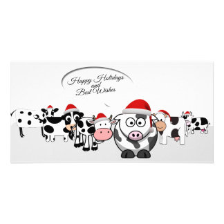 Illustrated Christmas Farm Animals Card