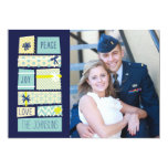 Illustrated Christmas Presents Holiday Photo Card Personalized Invite