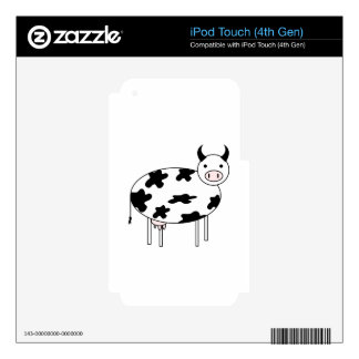 Illustrated Cow iPod Touch 4G Skin