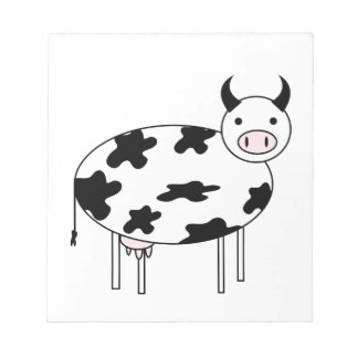 Illustrated Cow Notepad