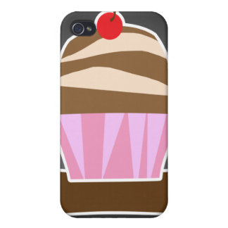 Illustrated Cupcake Custom iPhone 4/4S Cases