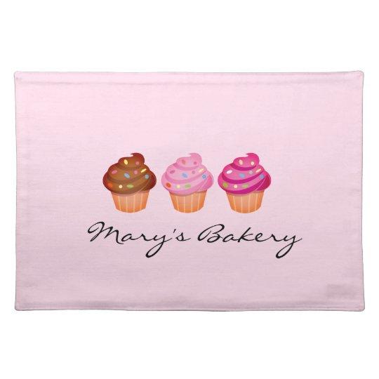 Illustrated Cupcake Logo Placemat