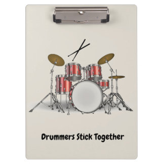 Illustrated Drum Set Clipboard