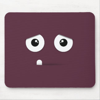 Illustrated Face with colorful background Mouse Pad