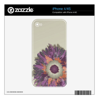 Illustrated Flower iPhone 4S Skin