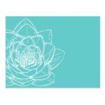 Illustrated Flower White Modern Postcard