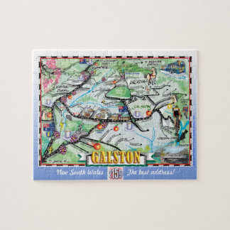 Illustrated fun map of Galston Jigsaw Puzzle