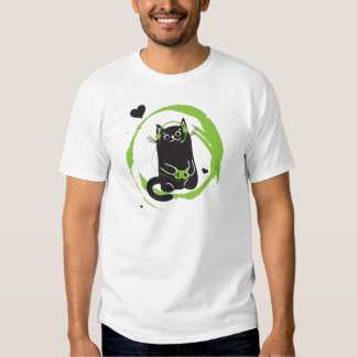 Illustrated Gamer Cat T-Shirt
