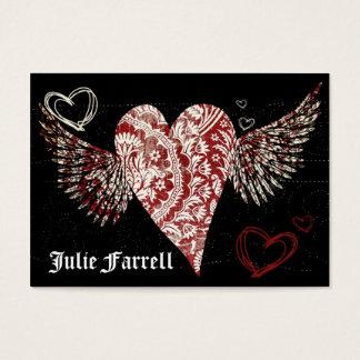 Illustrated Heart Artist Card