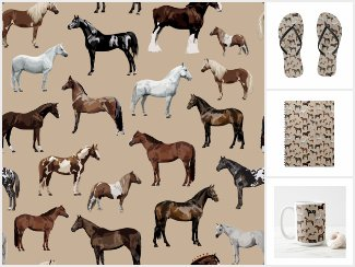 Illustrated Horse & Pony Breeds Pattern