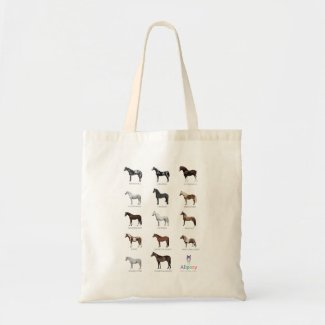 Illustrated Horse & Pony Breeds Tote Bag