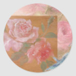 illustrated hummingbird-roses custom sticker