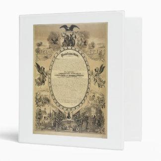 Illustrated Image of the Emancipation Proclamation 3 Ring Binder