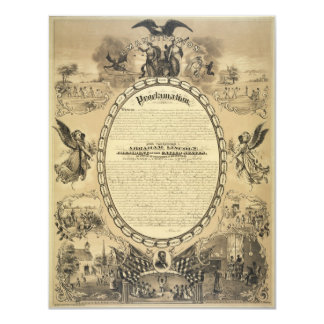 Illustrated Image of the Emancipation Proclamation Card