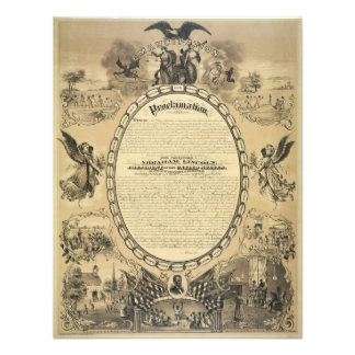 Illustrated Image of the Emancipation Proclamation Announcements